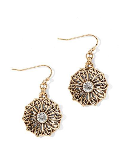 Golden Flower Earring - New York & Company