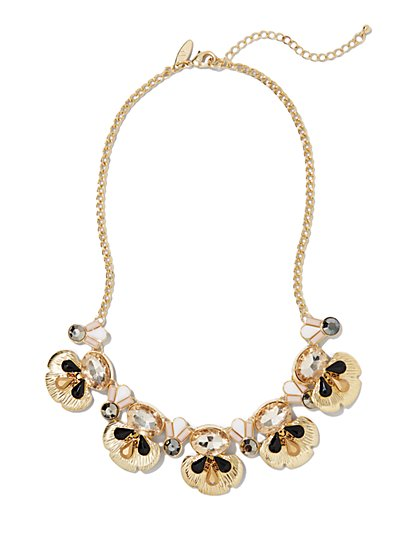 Golden Lily Pad Necklace - New York & Company