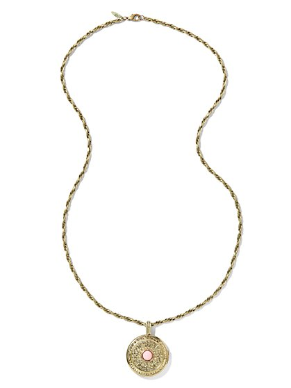 Golden-Locket Necklace - New York & Company