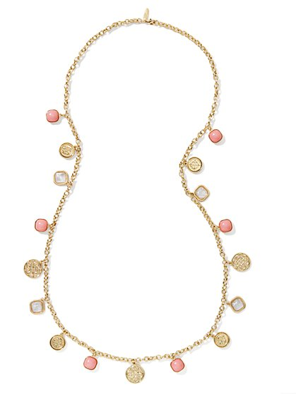 Golden Medallions Jangle Necklace - New York & Company
