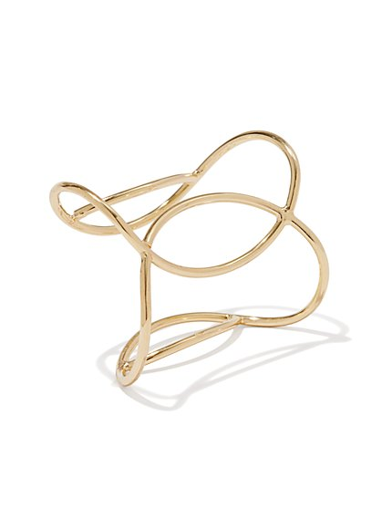 Golden Open-Cuff Bracelet  - New York & Company
