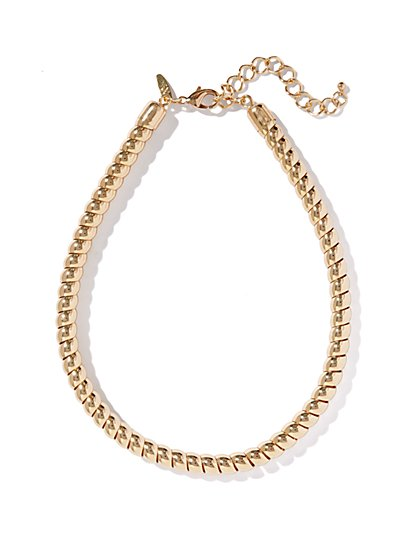 Golden Tubes Necklace - New York & Company