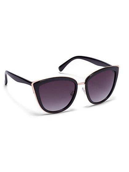 Goldtone-Accent Cat-Eye Sunglasses  - New York & Company