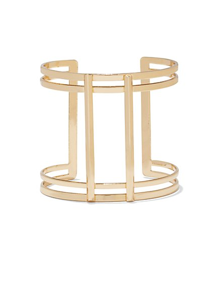 Goldtone Bar Cuff  - New York & Company