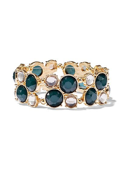 Goldtone Beaded Cluster Bracelet  - New York & Company