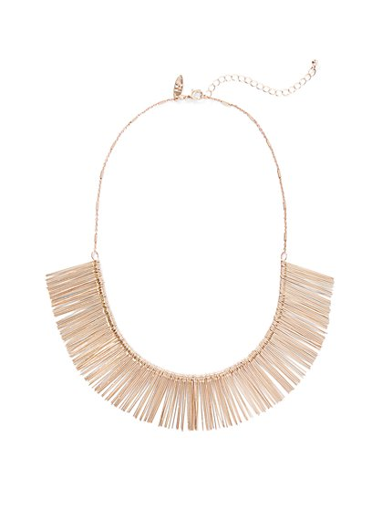 Goldtone Bib Necklace  - New York & Company