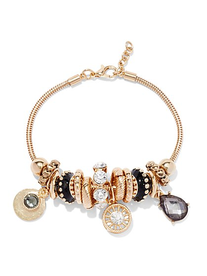 Goldtone Bracelet & Charms Set  - New York & Company