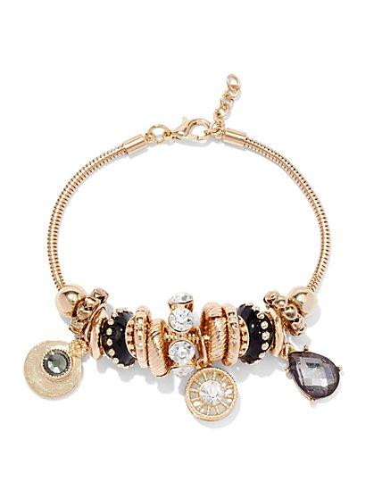 Goldtone Bracelet & Charms Set  - New York & Company