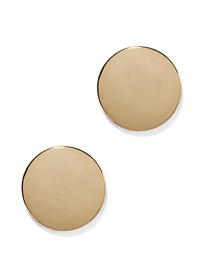 Goldtone Button Earring  - New York & Company