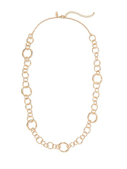 Goldtone Chain-Link Necklace  - New York & Company