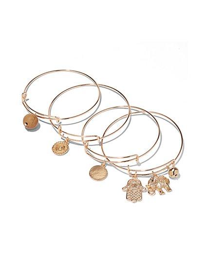 Goldtone Charm Bracelet Set - New York & Company