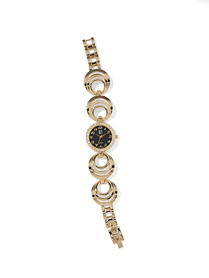 Goldtone Circular Watch  - New York & Company