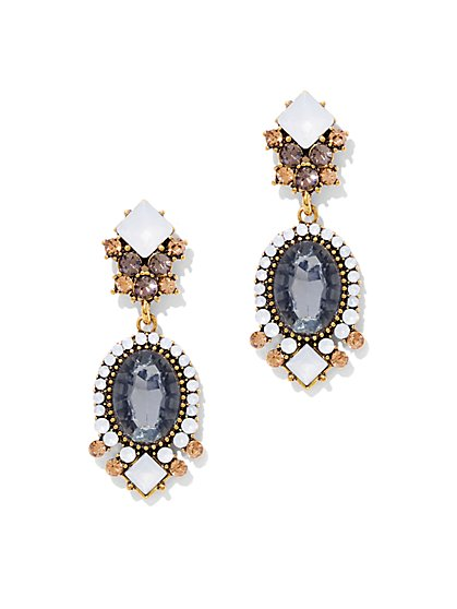 Goldtone Cluster Drop Earring  - New York & Company