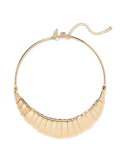 Goldtone Collar Necklace  - New York & Company