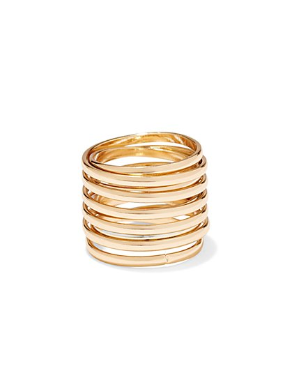 Goldtone Crisscross Ring  - New York & Company