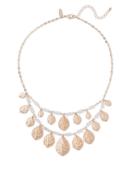 Goldtone Double-Row Teardrop Necklace  - New York & Company