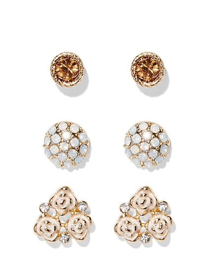Goldtone Earring Set  - New York & Company