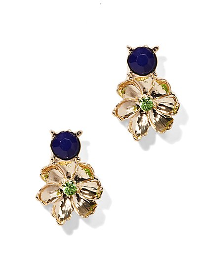 Goldtone Floral Earring  - New York & Company