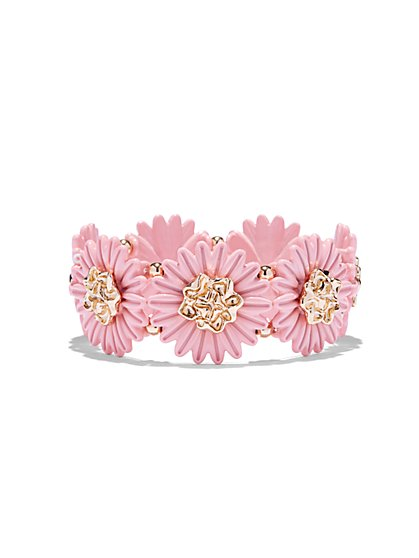 Goldtone Floral Stretch Bracelet  - New York & Company