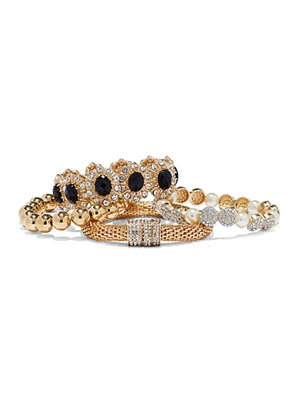 Goldtone Four-Piece Bracelet Set  - New York & Company