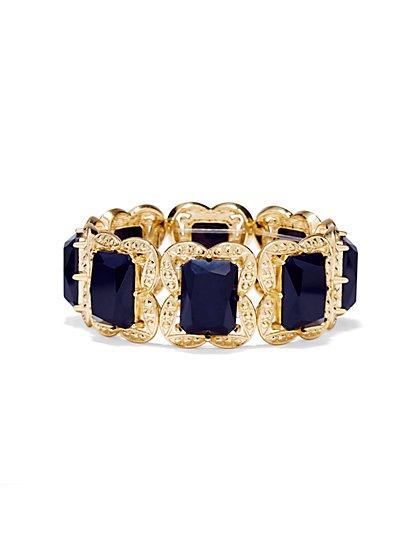 Goldtone-Frame Cabochon Bracelet  - New York & Company