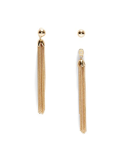 Goldtone Fringe Drop Earring  - New York & Company