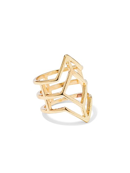 Goldtone Geo Ring  - New York & Company