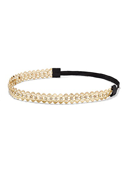 Goldtone Heart Headband  - New York & Company