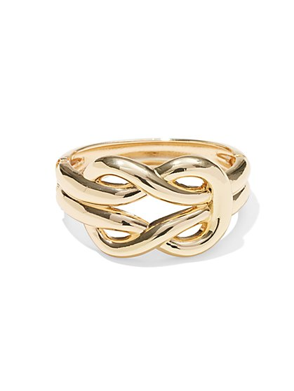 Goldtone Hinged Knot Bracelet  - New York & Company