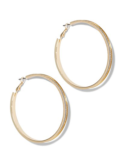 Goldtone Hoop Earring  - New York & Company