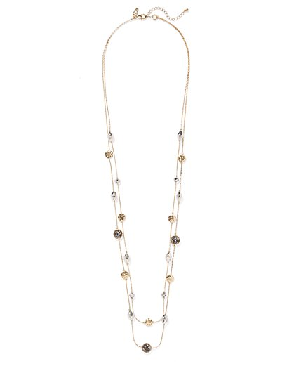 Goldtone Illusion Necklace  - New York & Company