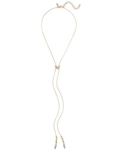 Goldtone Lariat Necklace  - New York & Company