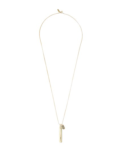 Goldtone Linear Charm Necklace  - New York & Company