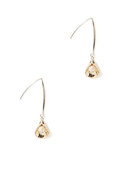Goldtone Linear Drop Earring - New York & Company