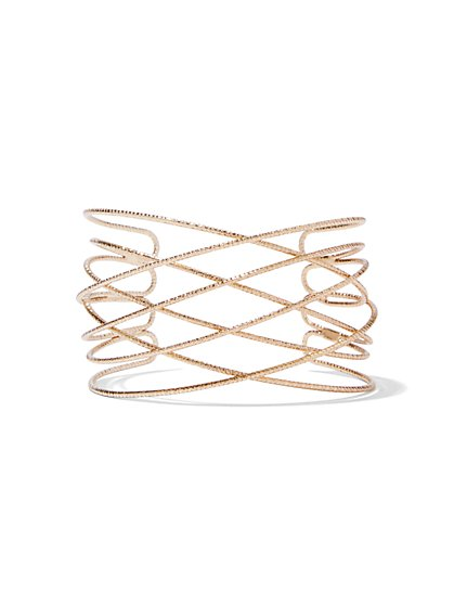 Goldtone Loop Cuff Bracelet  - New York & Company