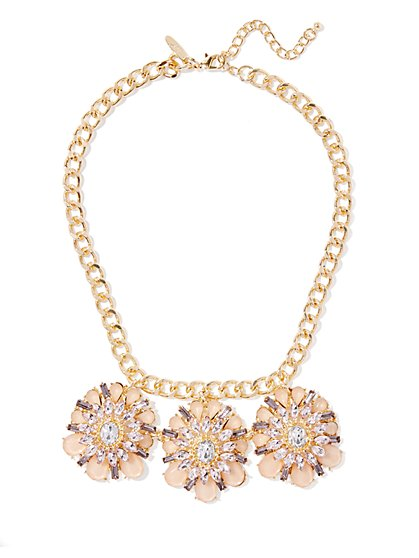 Goldtone Medallion Statement Necklace  - New York & Company