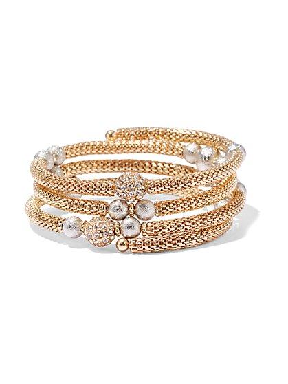Goldtone Mesh Coil Bracelet  - New York & Company
