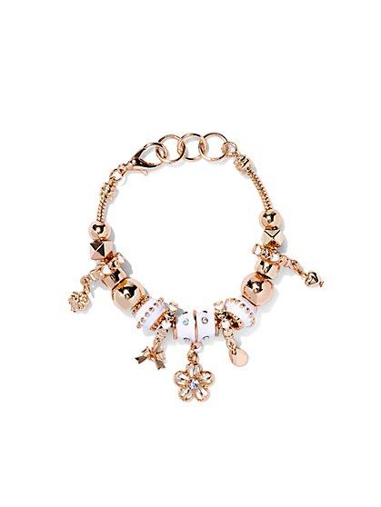 Goldtone Multi-Charm Bracelet  - New York & Company