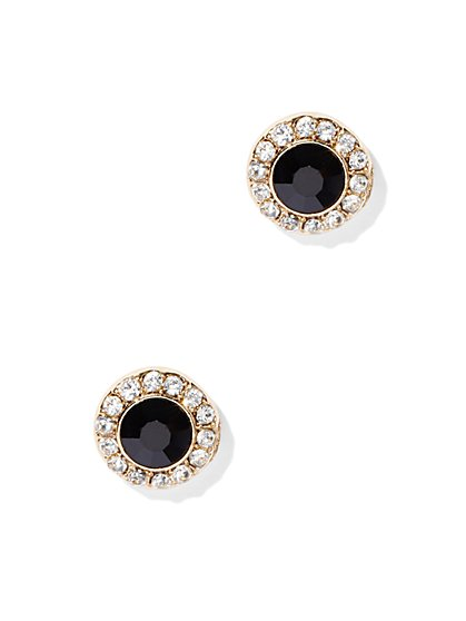 Goldtone Pavé Post Earring  - New York & Company
