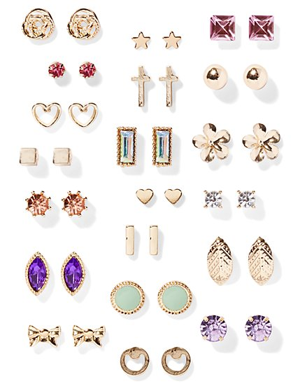 Goldtone Post Earring Set - 20 Pairs - New York & Company