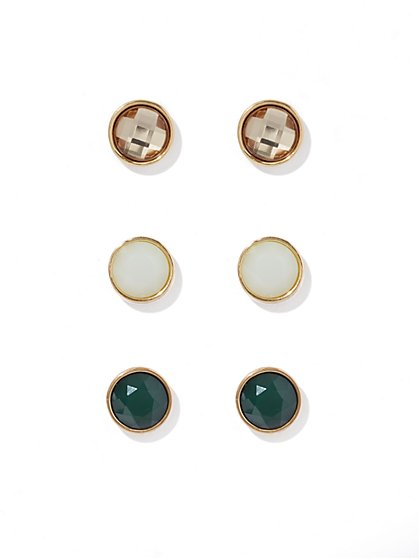 Goldtone Post Earring Set  - New York & Company