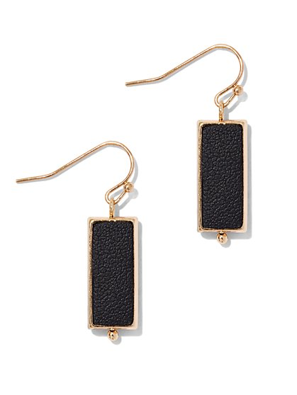 Goldtone Rectangular Drop Earring  - New York & Company