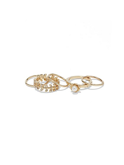 Goldtone Ring Set  - New York & Company