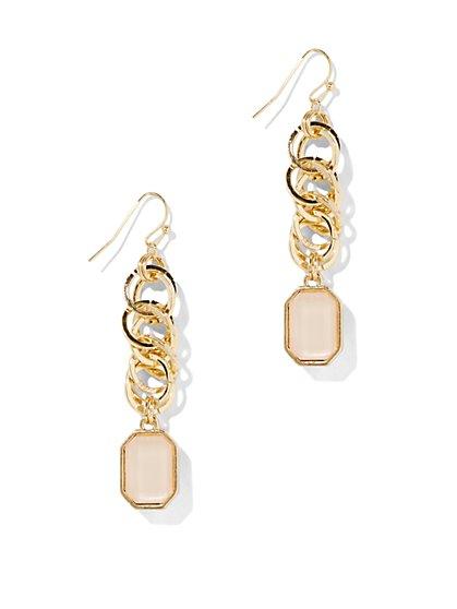 Goldtone Rings Drop Earring - New York & Company