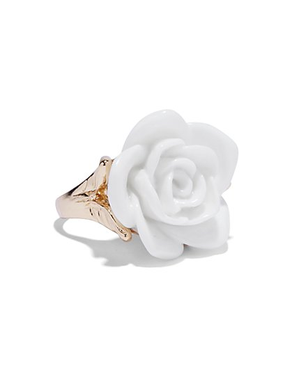 Goldtone Rosette Ring  - New York & Company
