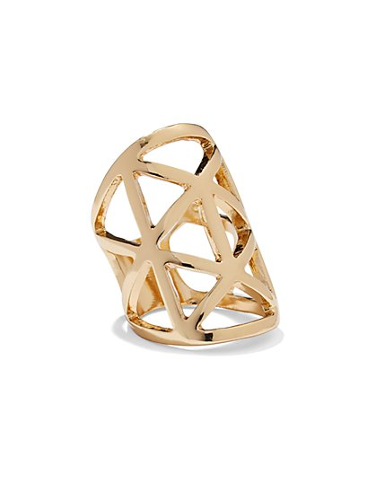 Goldtone Triangle Ring  - New York & Company