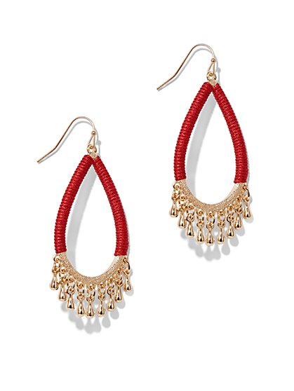 Goldtone Woven Drop Earring  - New York & Company