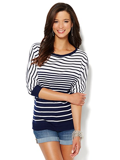 Gradient Stripe Sweater - New York & Company