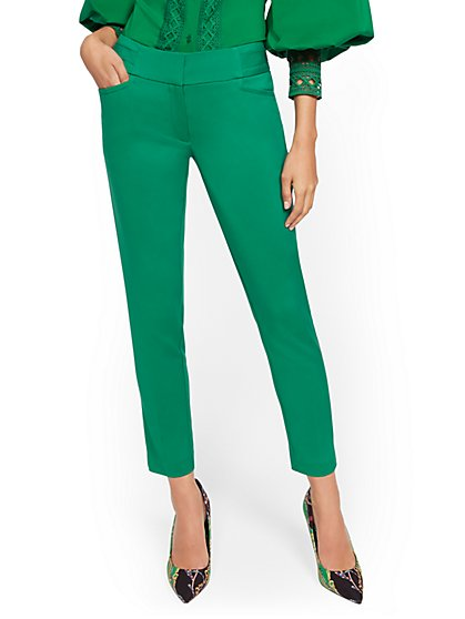 Green Ankle Pant - All-Season Stretch - 7th Avenue - New York & Company