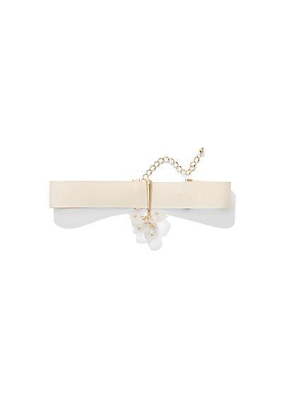 Grosgrain Choker Pendant Necklace  - New York & Company